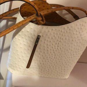Authentic Vintage Italian Ostrich Handbag